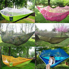 Double Hammock Tree 2 People Person Patio Bed Swing Outdoor with Mosquito Net
