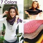 N4U8  Girl Corn Knited Hood Neck Circle Cowl Wool New Scarf Shawl Wrap Loop DZ88
