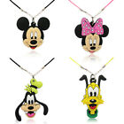 Novelty 4PCS Cartoon Mickey Minnie PVC Chain Necklace pendant accessories gifts
