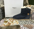 Pepe Jeans London Ragazza Inverno Scarpe Stivali angel base blue Tgl 32 fino 39