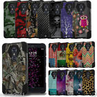 Shockproof Dual Layer Rugged Case w/Stand+Skin Cover for ZTE ZMax Pro Z981