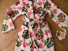 New Girls Despicable Me Minion Fleece Robe Christmas Sleepwear S