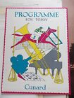 CUNARD RMS QUEEN MARY CABIN CLASS PROGRAMME OF EVENTS MAY 4 1951