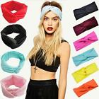 Women Cotton Turban Twist Knot Head Wrap Headband Twisted Knotted Hair Band s5