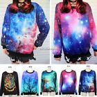 New Women Space Galaxy T-shirt sweater Sweatshirt hoodie Pullover Top Tracksuit
