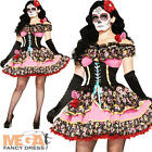 Day of the Dead Fancy Dress Ladies Senorita Skeleton Womens Halloween Costume