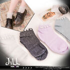 Japan lolita liz lisa fairy kei pearl beads tulle hem ankle socks 	J1A044