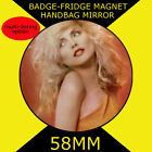 BLONDIE-DEBBIE HARRY -58 mm BADGE-FRIDGE MAGNET OR HANDBAG MIRROR #55s