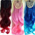 Synthetic Women's Curly Wigs Multi-Color Clip-in Wavy Long Cosplay Party Costume
