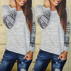 Free Ship Womens Summer Fashion Top Casual Loose Long Sleeve T-Shirt Tops Blouse