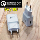 9V Qualcomm Certificated Quick Charge 2.0 USB Wall Fast Charger Adapter EU Plug