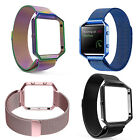 Magnet Lock Milanese Loop Stainless Steel Strap Band With Frame for Fitbit Blaze