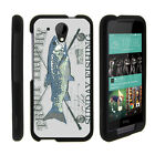 For HTC Desire 520 Case Hard Snap On 2 Piece Slim Shell Outdoor Fishing