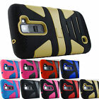for LG Treasure L51AL L52VL Escape 3 K373 Fusion Hybrid Stand Case Cover+Prytool