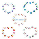 10Gross 1440Pcs Crystal AB Gems Flatback No-Hotfix Rhinestones Colorful SS6-SS20