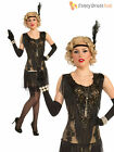 Ladies Deluxe Flapper Costume Womens 1920s Great Gatsby Fancy Dress Charleston