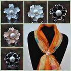 Scarf Holder Scarf Buckle Scarf Ring Imitation Pearls Camellia Accessories Hot