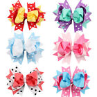 4.5 Inch Girls Baby Headband Hair Bow Boutique Bowknot Dot Headwear Double Layer