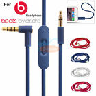 Replacement Audio Cable Cord Wire w/Mic for Beats by Dr Dre Headphone Studio/Pro