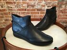 Clarks Black Leather Idella Casey Lightweight Ankle Boot NEW