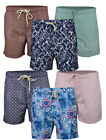 Mens Hawiian  Swim Shorts Beach Contrast Summer Mesh Lined