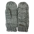 FIRETRAP CHARCOAL TWISTED YARN WOMENS MITTENS ONE SIZE