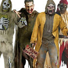 Scary Zombie Horror Mens Halloween Fancy Dress Adult Outfit Costume + Mask New