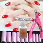 500 Color False Nail Art Tips Strong Glue Clipper Cutter Acrylic Manicure Kits