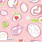 BUNNY TRAIL MAIN PINK JODIE CARLETON KIDS QUILT SEWING FABRIC *Free Oz Post