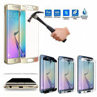 Tempered Glass Curved Full Cover Screen For Samsung Galaxy S6 S7 Edge&Clear Case