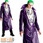 Joker Mens Fancy Dress Halloween Villain Suicide Squad Adults Costume Outfit New
