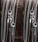 "100PCS Lots 1mm Rolo Chain 16"" 18"" 20"" 22"" 22"" 24inch Silver Plated Necklace Hot"