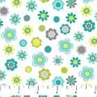 WHO LOVES YOU DAISY FLORAL BLUE NORTHCOTT QUILT SEWING FABRIC *Free Oz Post