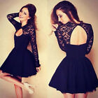 ❤❤Womens Lace SEXY Dress Short/Mini Cocktail Party Homecoming ✿Formal Bridesmaid