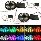 50-200cm 5050 RGB Fiexible LED Light Strip Waterproof Battery Powered Controller
