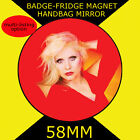 BLONDIE DEBBIE HARRY -58 mm BADGE-FRIDGE MAGNET OR MIRROR #235S