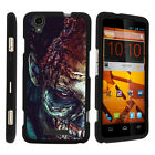 For ZTE Max Boost N9520 Case Hard Snap On 2 Piece Slim Shell Scary Designs