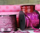 Внешний вид - 6MM SEQUIN STRING - BIG 80 YD ROLLS - 17 COLORS - SOLID & HOLOGRAPHIC STYLES