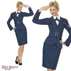 FANCY DRESS COSTUME # LADIES 1940s WW2 RAF AIR FORCE FEMALE CAPTAIN SIZE 8-18