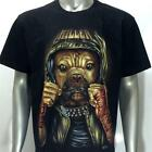 g2 Rock Chang T-shirt Tattoo Skull Glow in Dark Bulldog Killer Dog Men Tee Biker