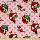MINNIE MOUSE SMELL THE FLOWERS LICENSED DISNEY QUILT SEWING FABRIC *Free Oz Post