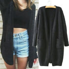Women Long Sleeve Knitted Cardigan Loose Sweater Casual Outwear Jacket Coat New