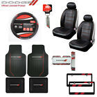 Dodge Elite Car Truck Seat Covers / Floor Mats / Keychain / Steering Wheel Cover $71.23 USD on eBay