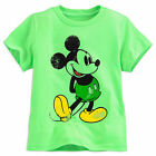 Disney Store Mickey Mouse Classic Boys T Shirt Lime Green Size XL 14 NWT