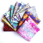 "2016 Men Silk Pocket Square Floral Paisley Handkerchief Wedding Party 10"" Hanky"