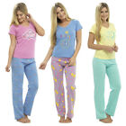 Womens Ladies Warm Lounge wear Pyjama Set  Bottoms Pjs Pants Top Short Sleeve