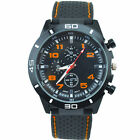 Mens Vogue Classic Black Silicone Band Stainless Sports Quartz Wrist Watch New