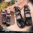 Lolita fairy baby Doll Bow Puff maid Mary-Jane ankle strap Heel pumps 5198