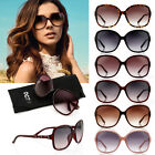 Fashion Women's Designer Retro Shades Vintage Large Frame Sunglasses Eyewear