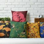 Colorful Fish Flowers Plants Office Decor Pillow Case Cushion Cover Square Linen